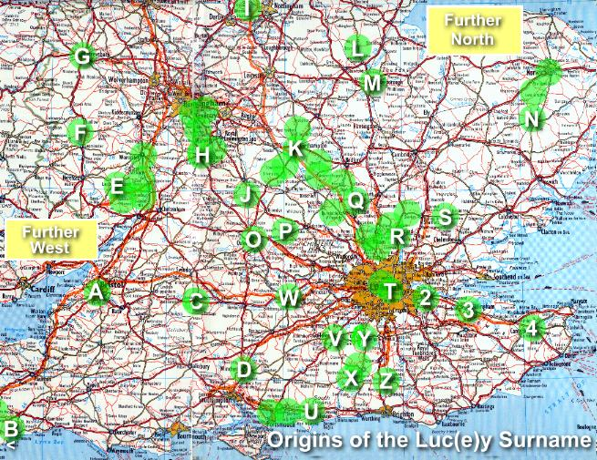 Luc(e)y Origins in Southern England
